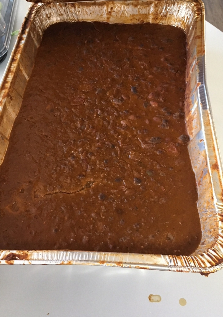 Tray of old chili