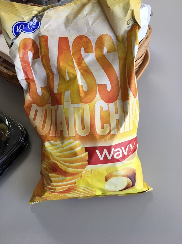 Bag of Classic Potato Chips, wavy