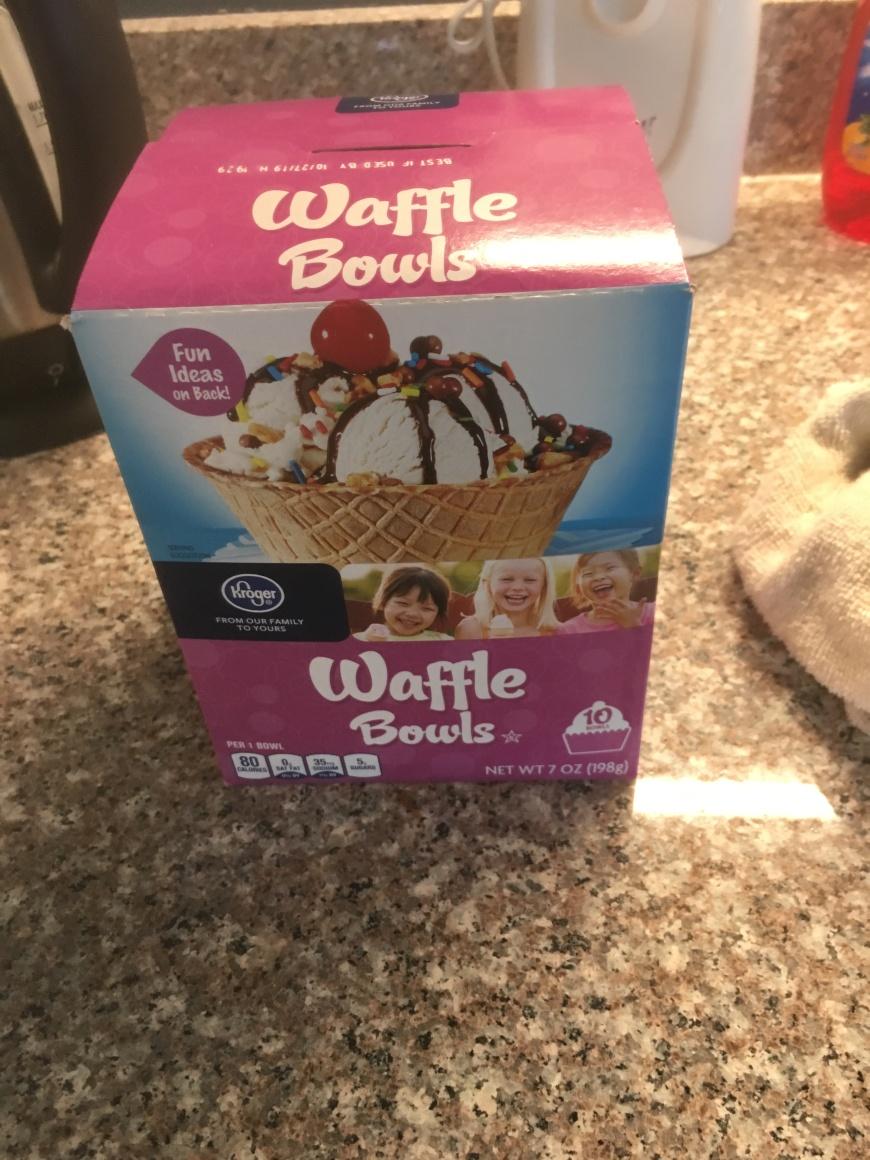 Box of waffle bowls