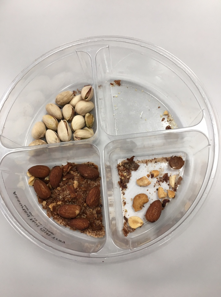 Package of a variety of nuts