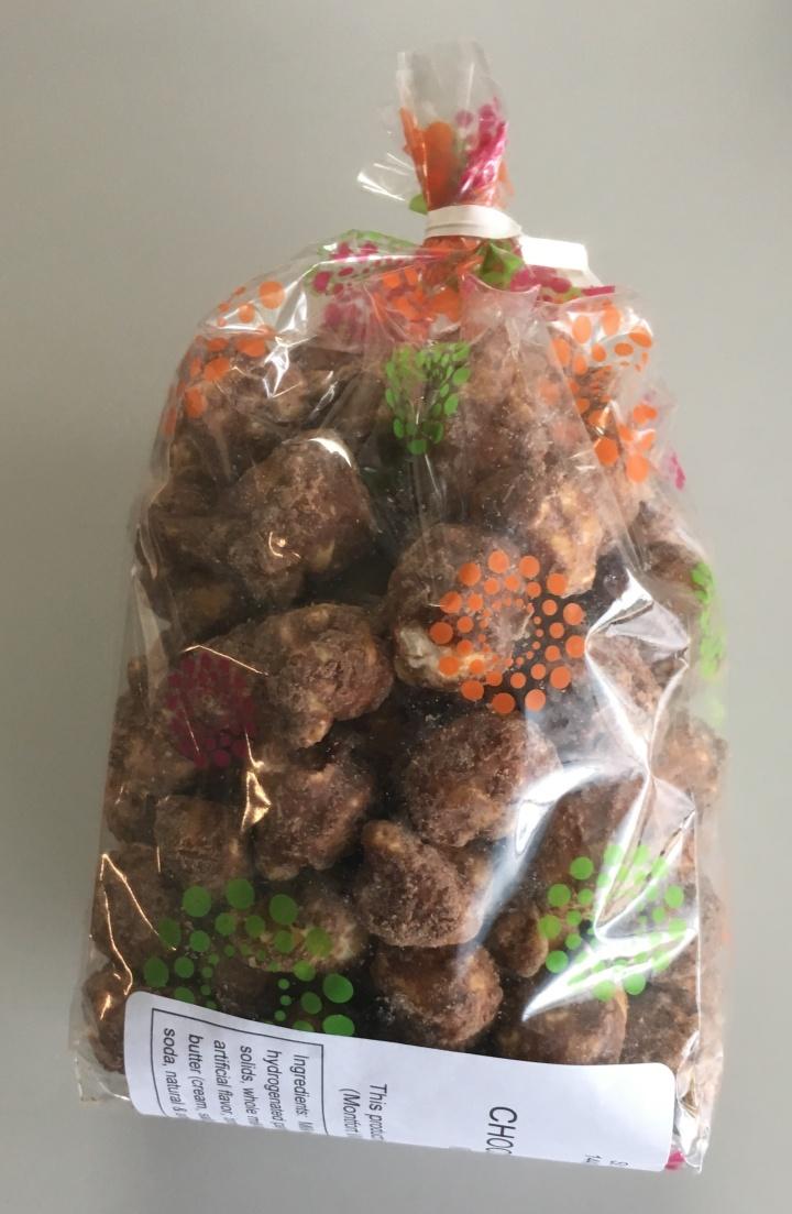 Bag of chocolate caramel popcorn