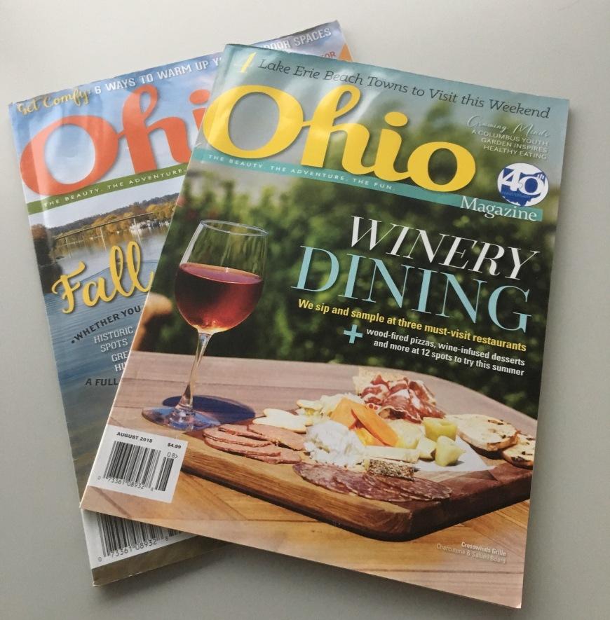 Two issues of Ohio magazine